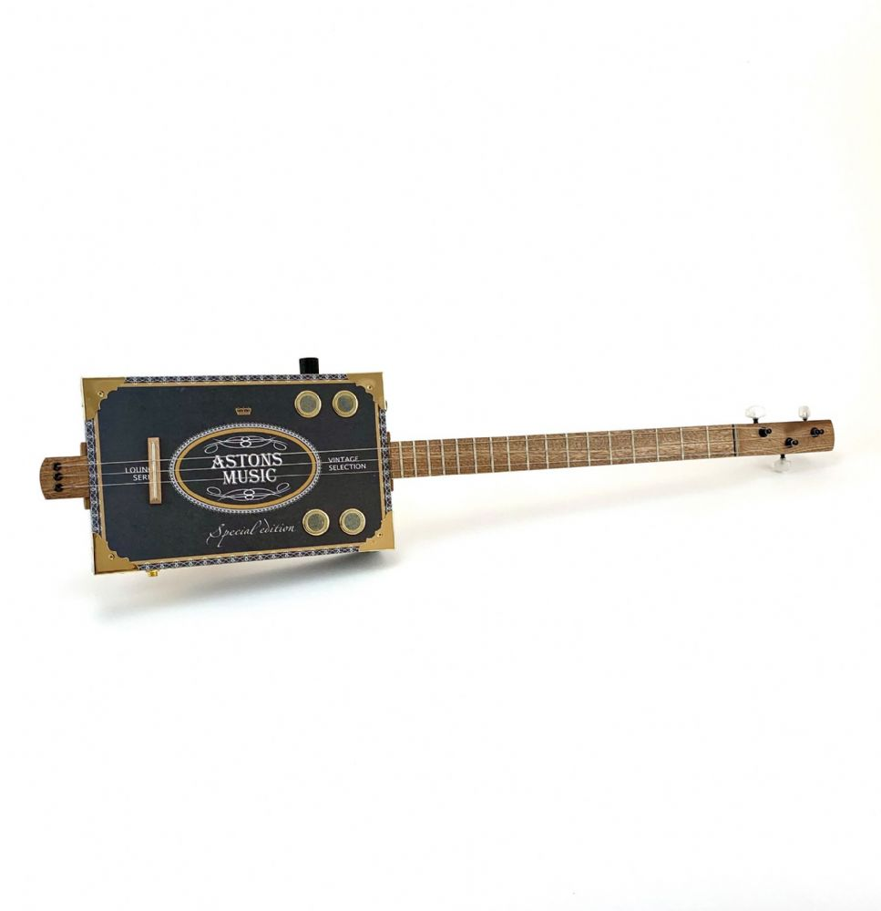 Cigar Box Guitar Astons Box 3 String Electro Acoustic Volume